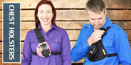 chest holsters for phone and radio
